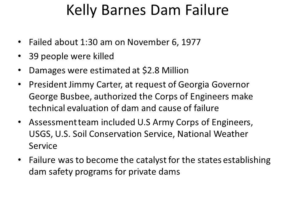 Kelly Barnes Dam Failure