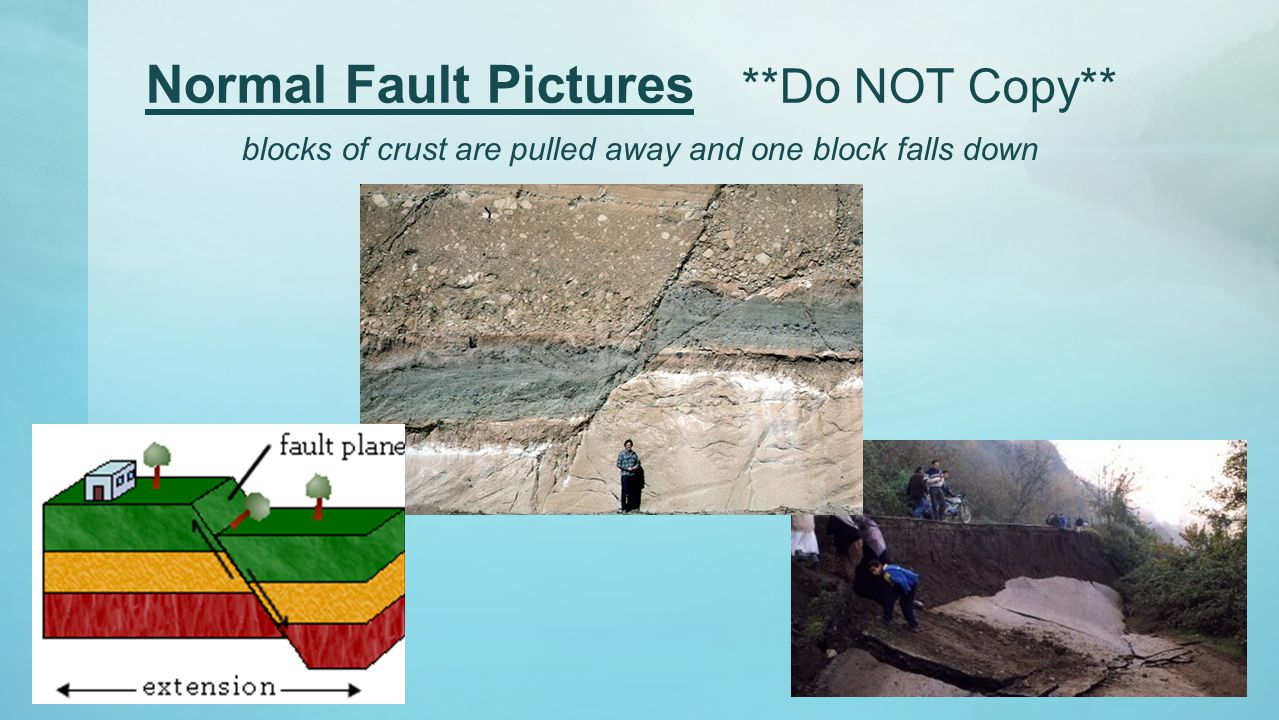 Normal Fault Pictures **Do NOT Copy**