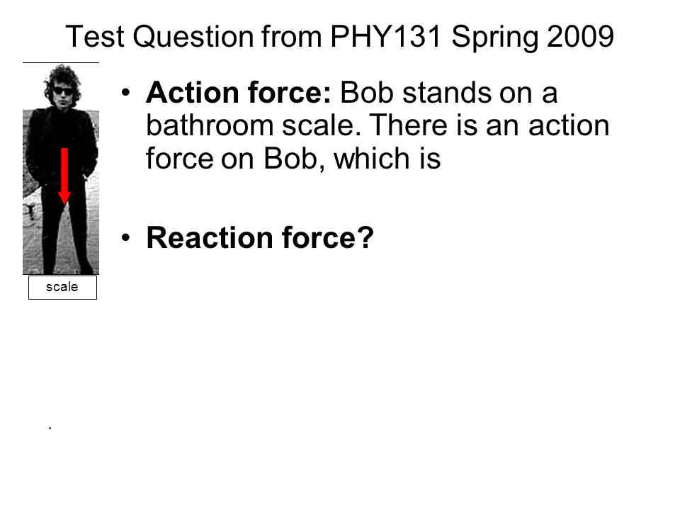 Test Question from PHY131 Spring 2009