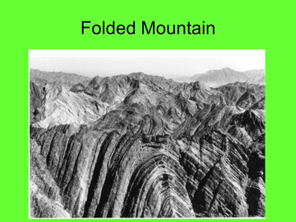 Folded Mountain Zagros Mountains in Iran and Iraq
