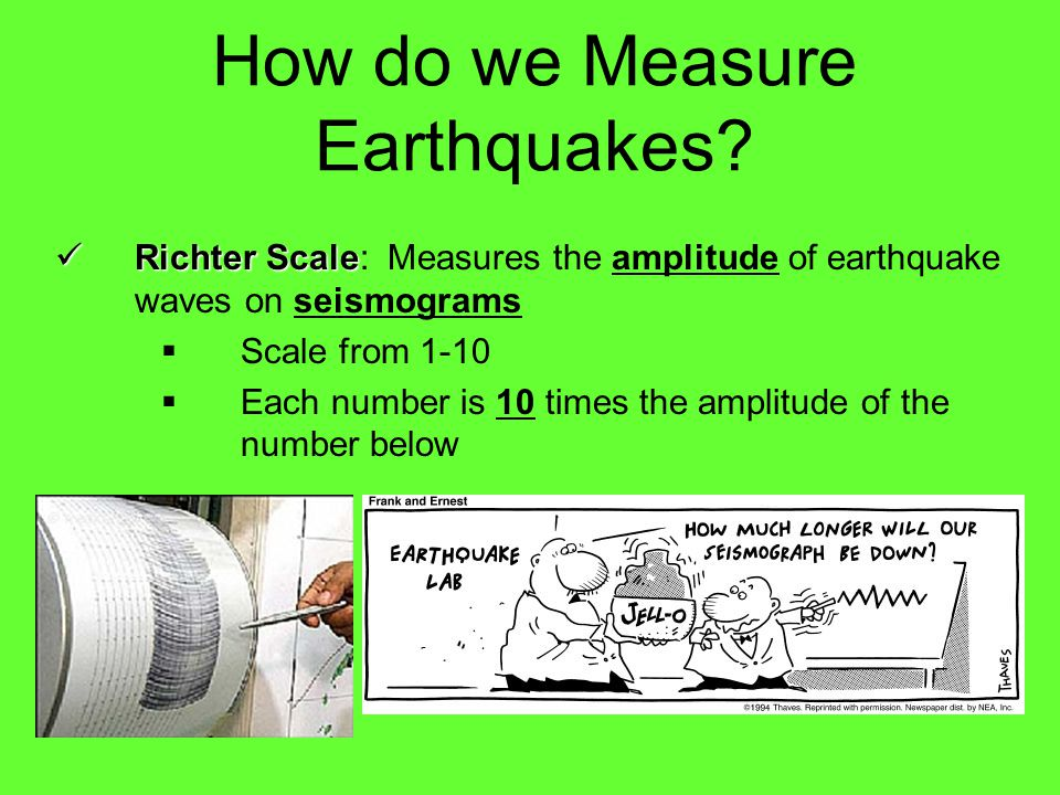 How do we Measure Earthquakes