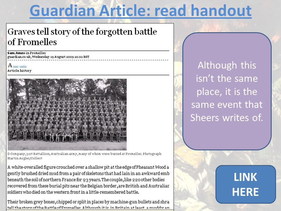Guardian Article: read handout