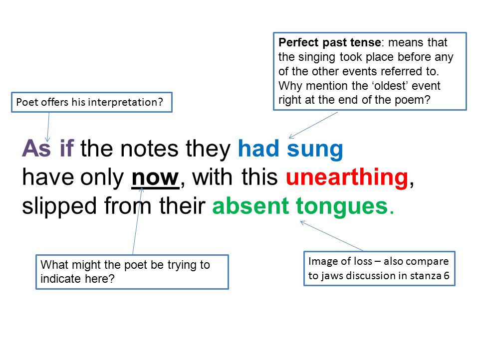 As if the notes they had sung have only now, with this unearthing,