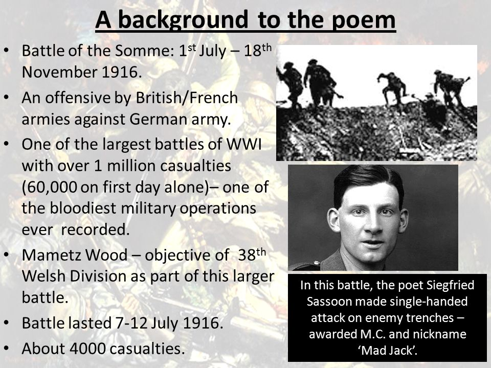 A background to the poem