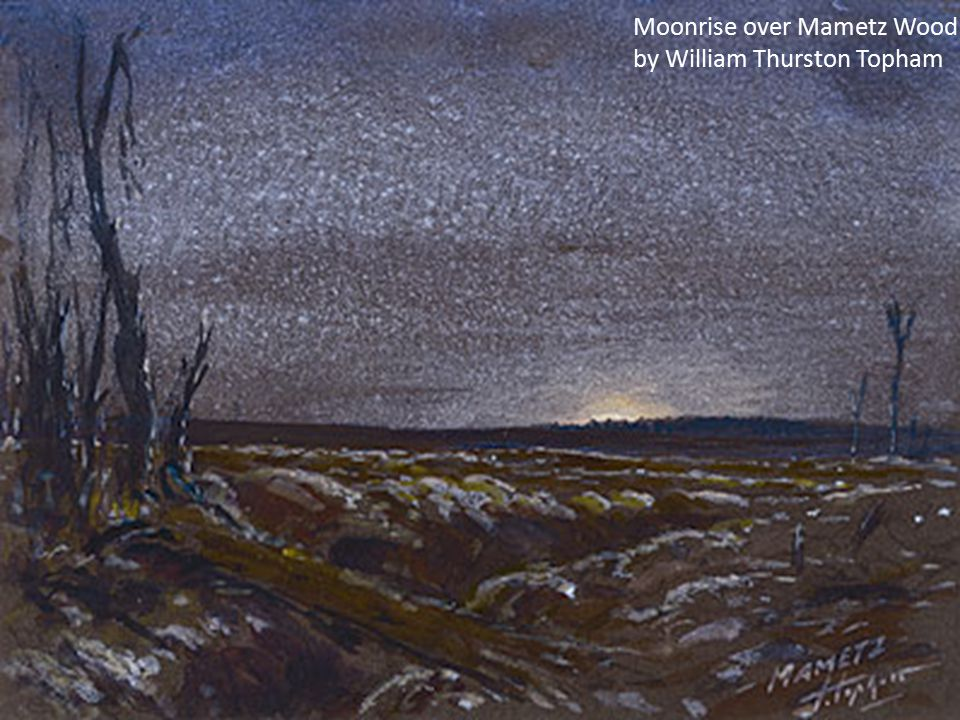 Moonrise over Mametz Wood by William Thurston Topham