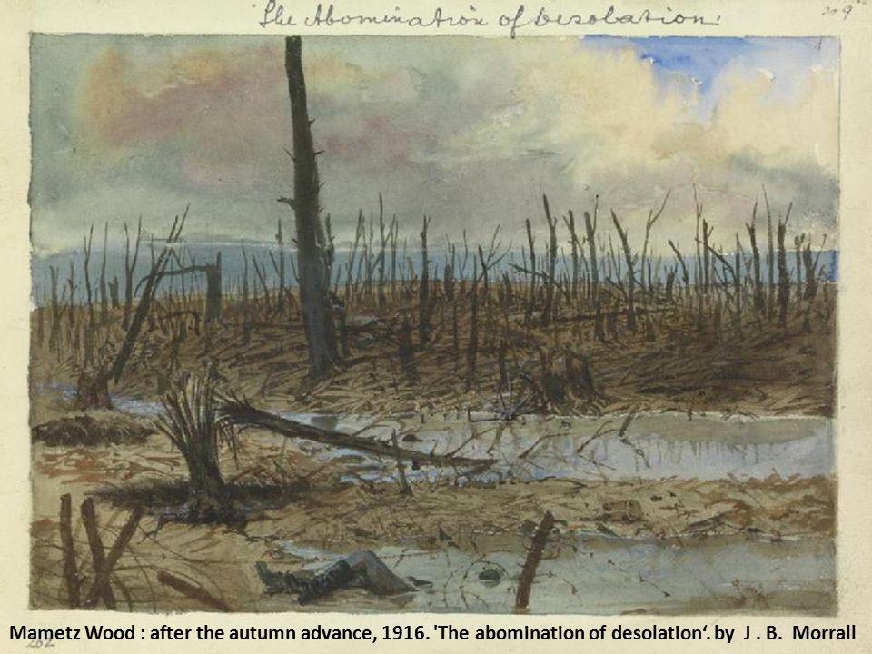 Mametz Wood : after the autumn advance, 1916