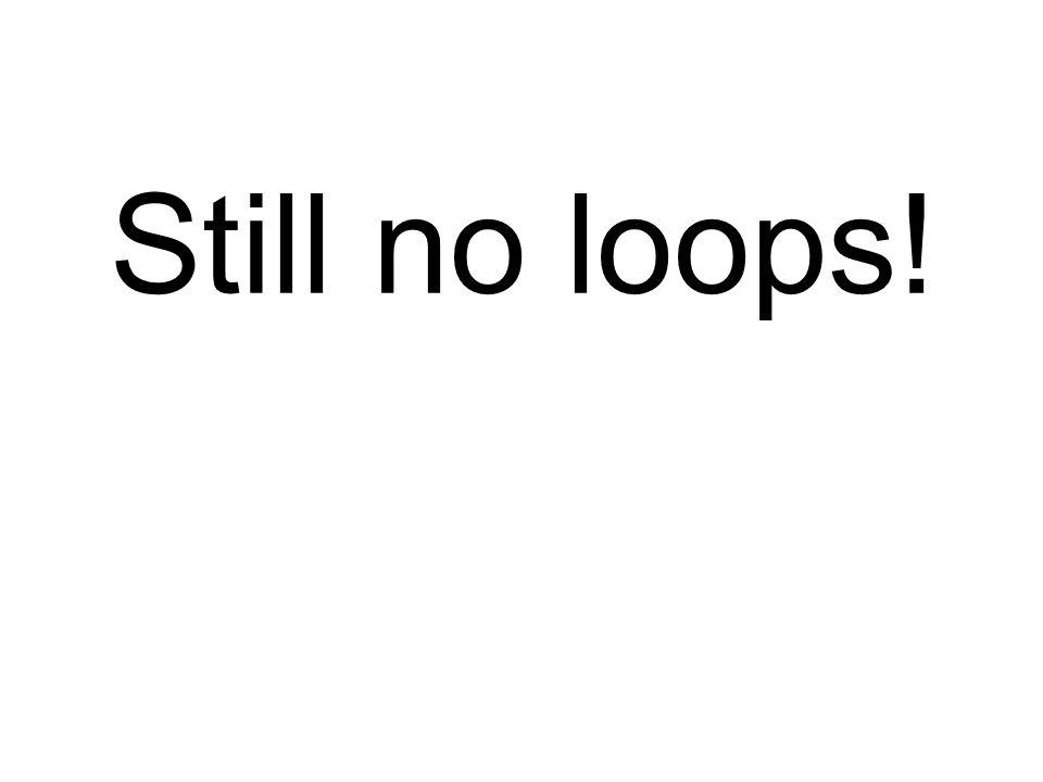 Still no loops!