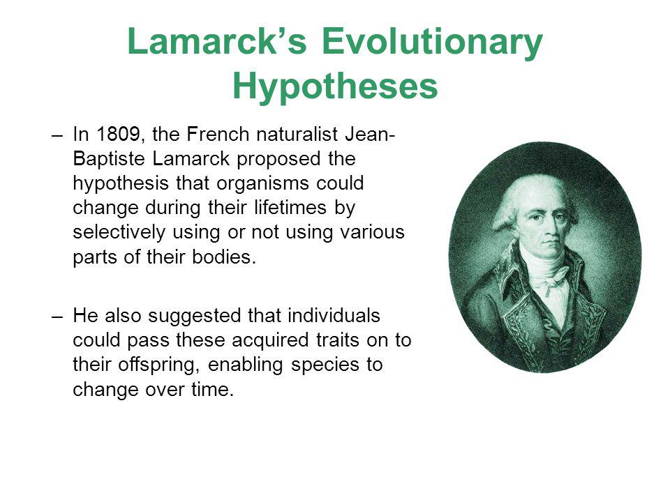 Lamarck's Evolutionary Hypotheses