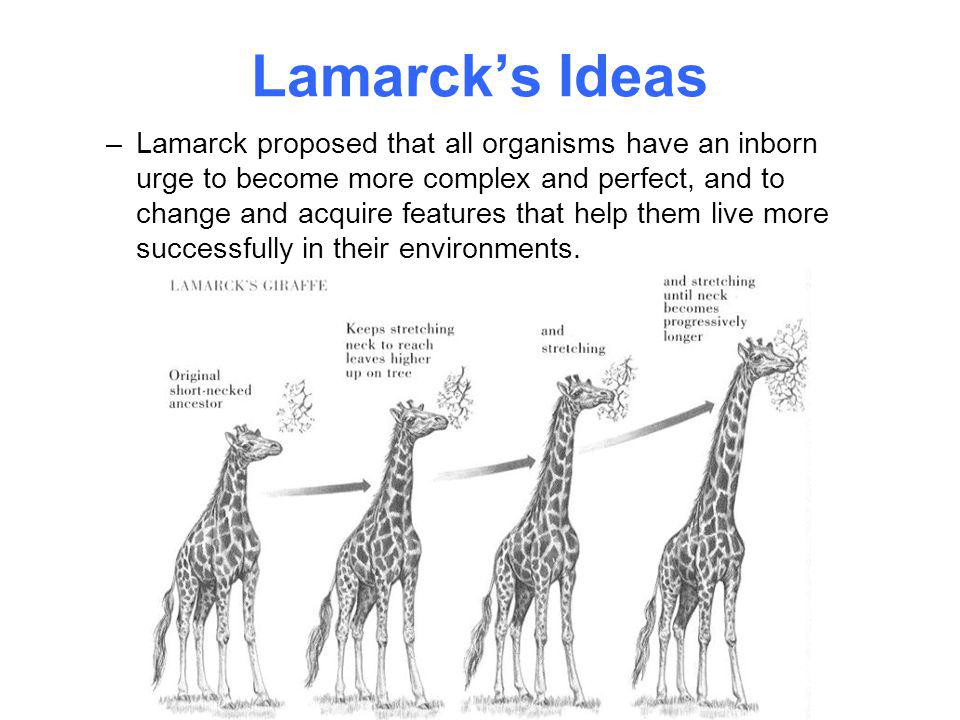 Lamarck's Ideas