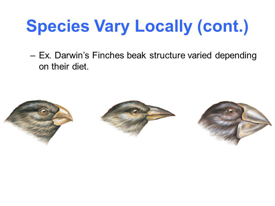 Species Vary Locally (cont.)