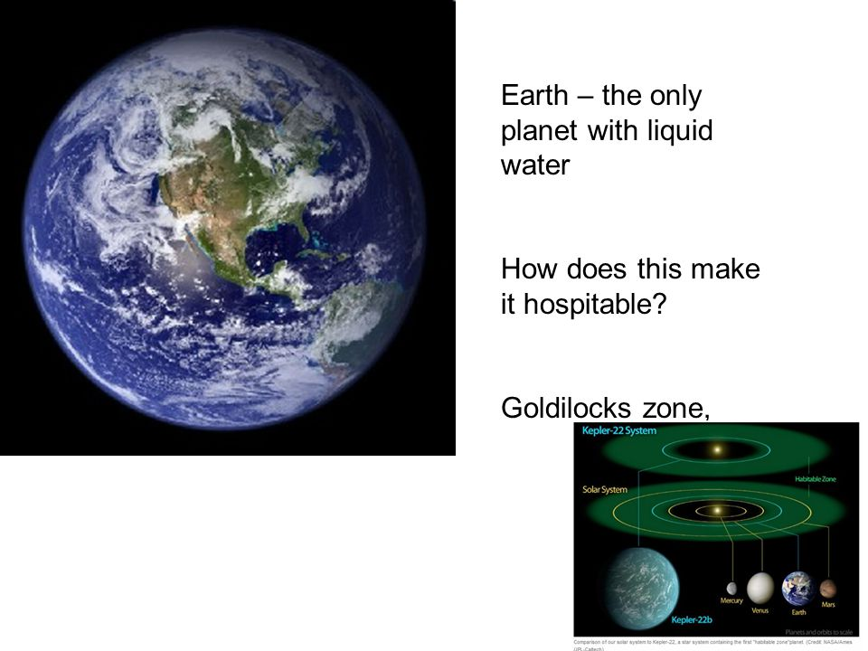 Earth – the only planet with liquid water