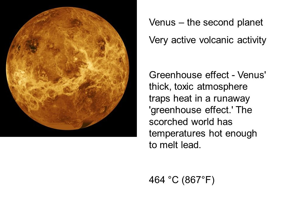 Venus – the second planet