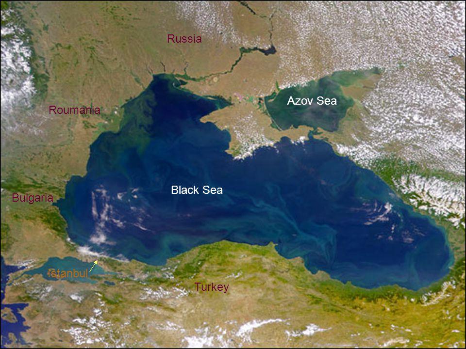 Russia Azov Sea Roumania Black Sea Bulgaria Istanbul Turkey