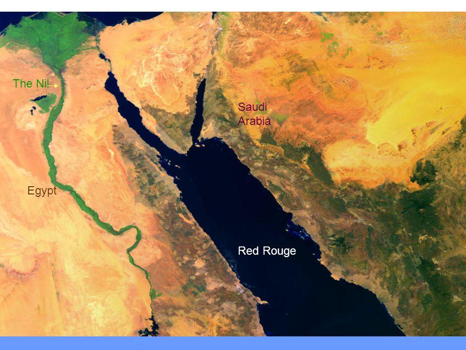 The Nil Saudi Arabia Egypt Red Rouge