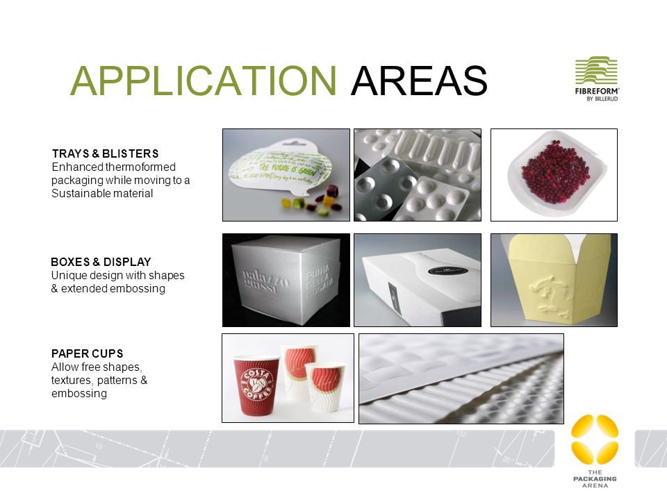 APPLICATION AREAS TRAYS & BLISTERS Enhanced thermoformed