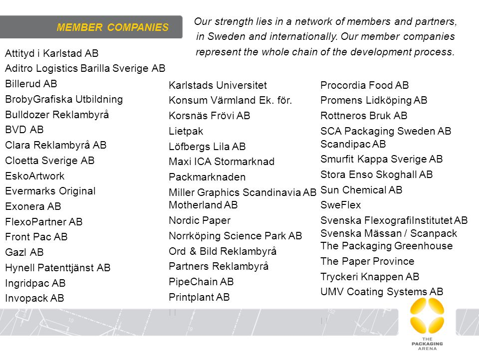 Our strength lies in a network of members and partners,