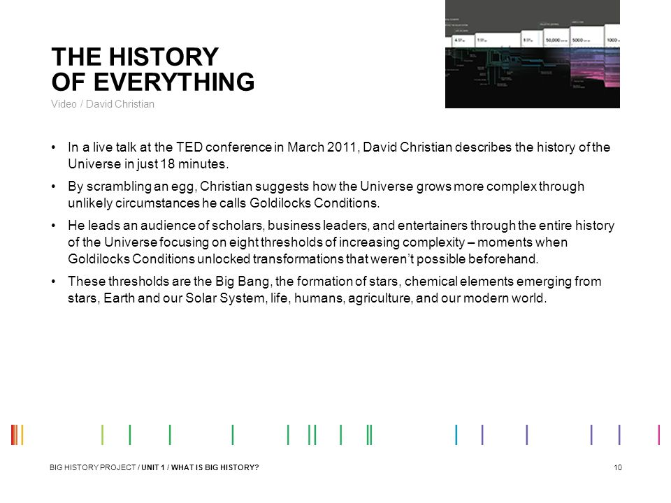 THE HISTORY OF EVERYTHING