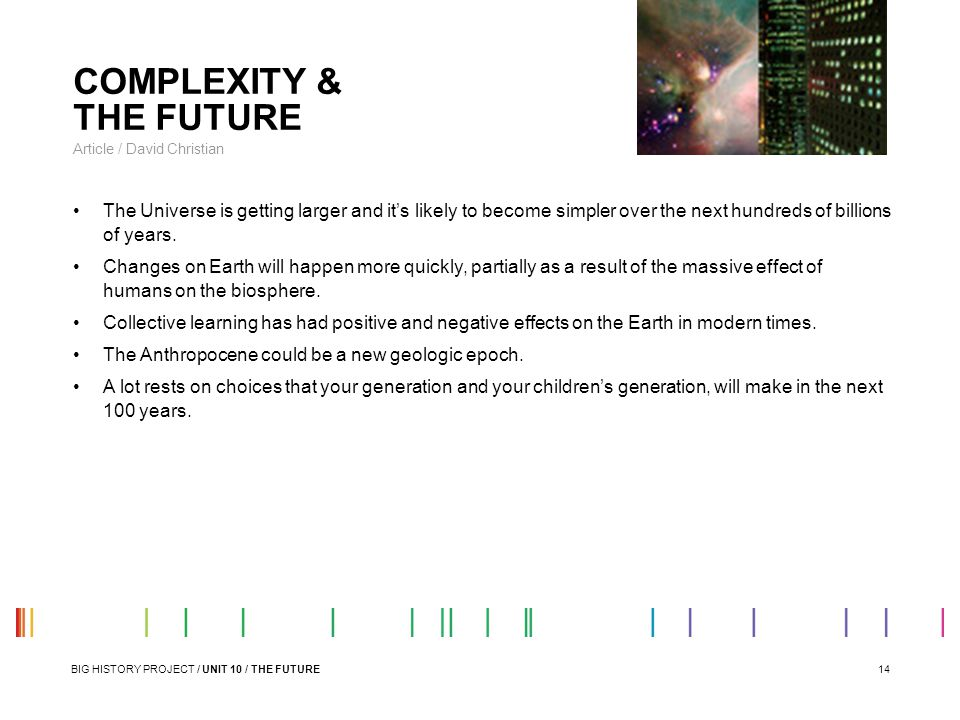 COMPLEXITY & THE FUTURE