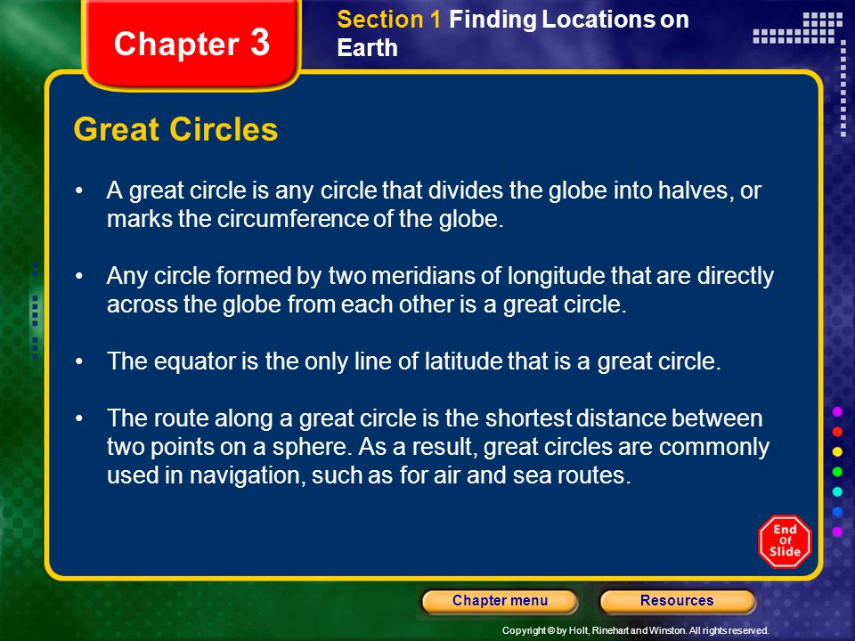 Chapter 3 Great Circles Section 1 Finding Locations on Earth