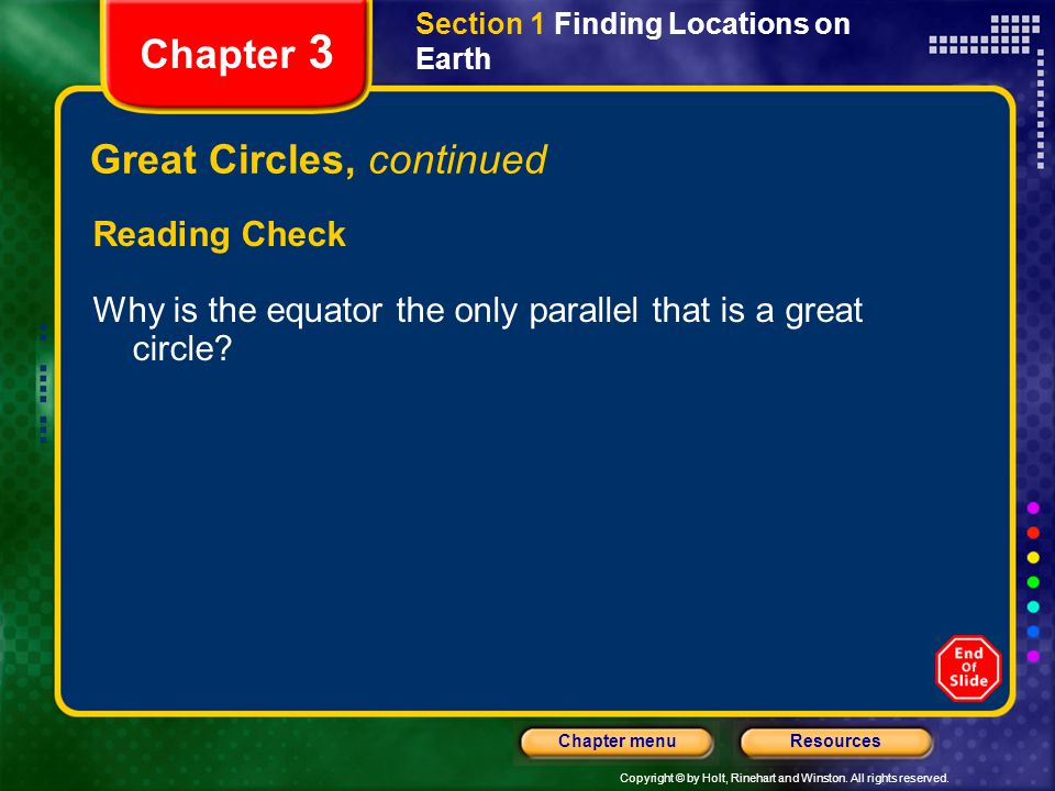 Great Circles, continued
