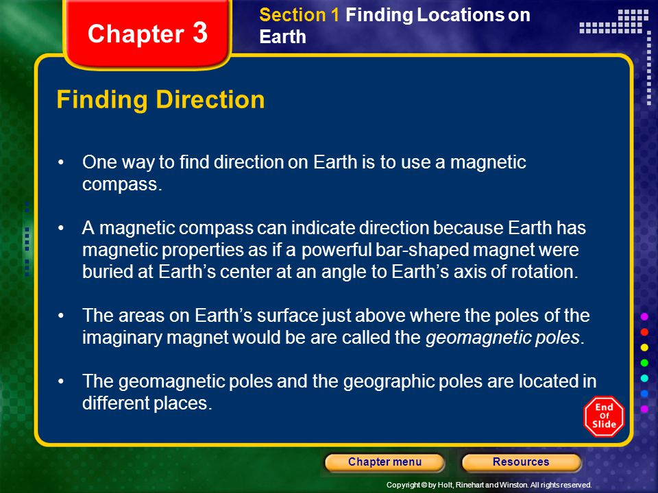 Chapter 3 Finding Direction Section 1 Finding Locations on Earth