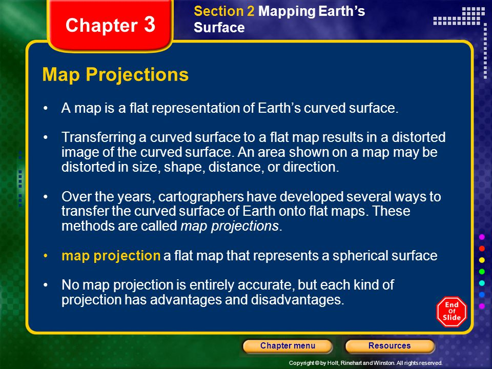 Chapter 3 Map Projections Section 2 Mapping Earth's Surface