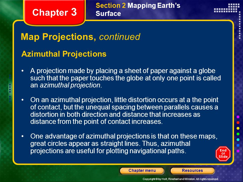 Map Projections, continued