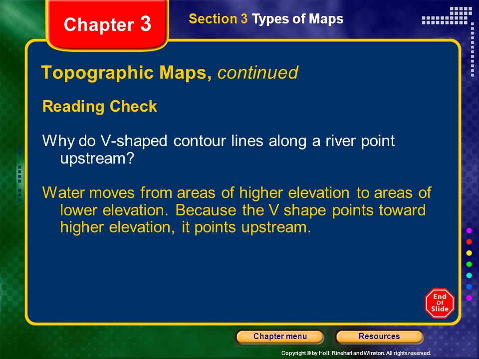Topographic Maps, continued
