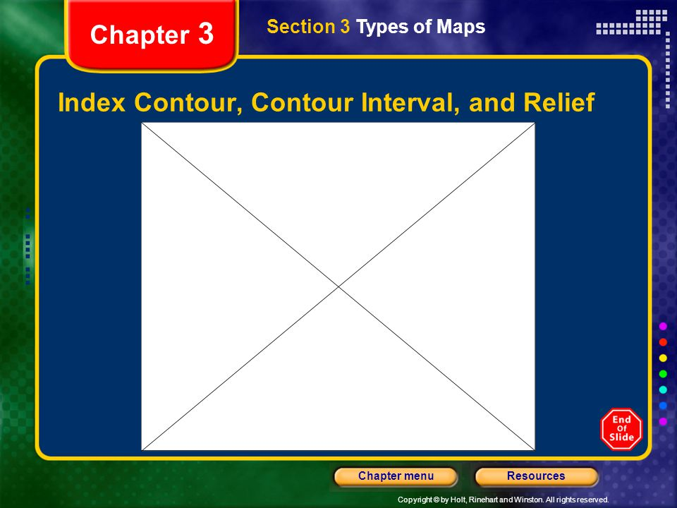 Index Contour, Contour Interval, and Relief