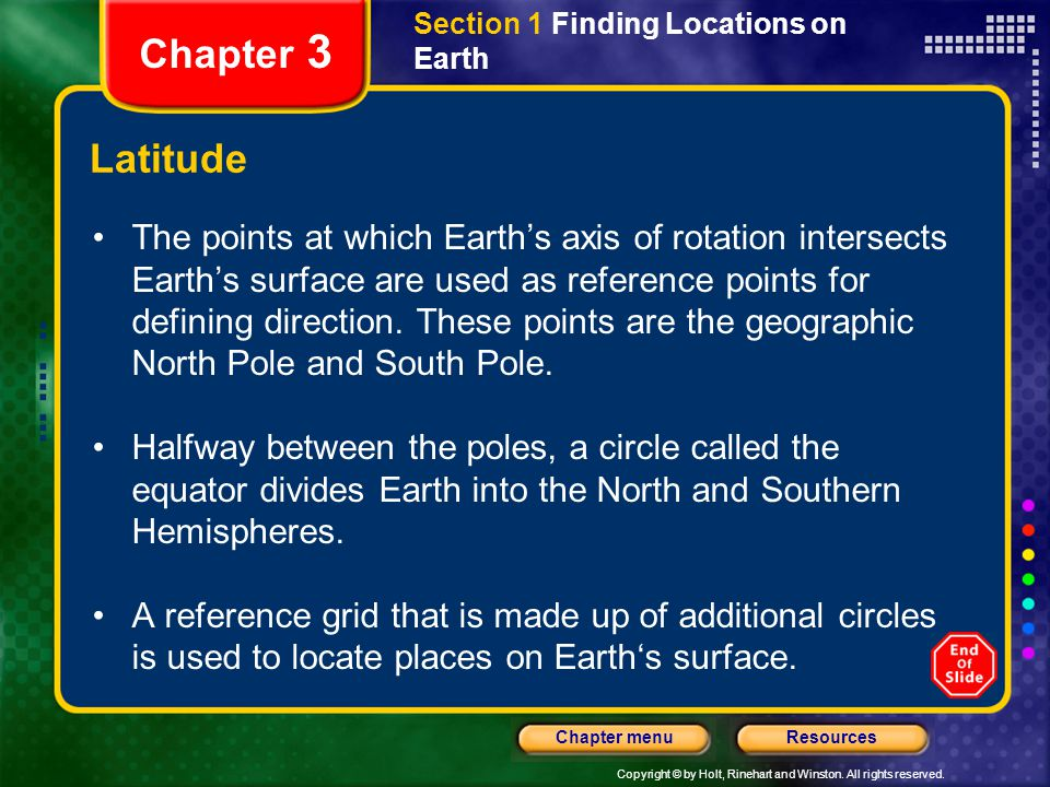 Section 1 Finding Locations on Earth