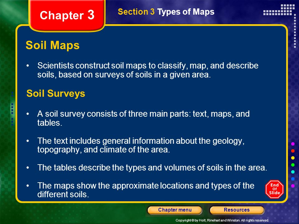 Chapter 3 Soil Maps Soil Surveys Section 3 Types of Maps