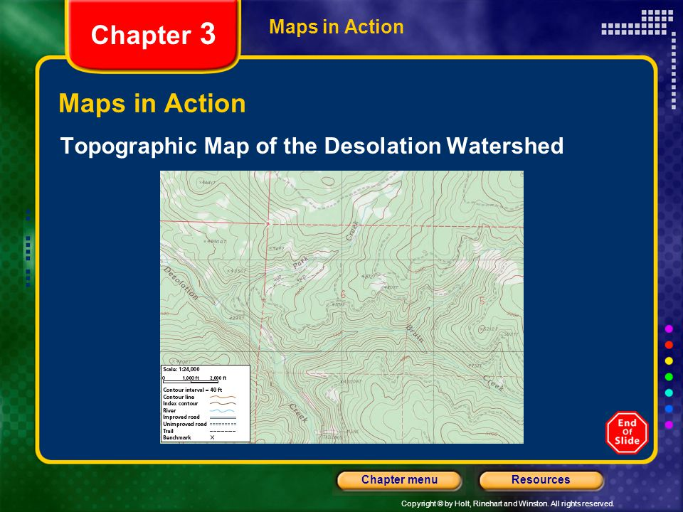 Chapter 3 Maps in Action Topographic Map of the Desolation Watershed
