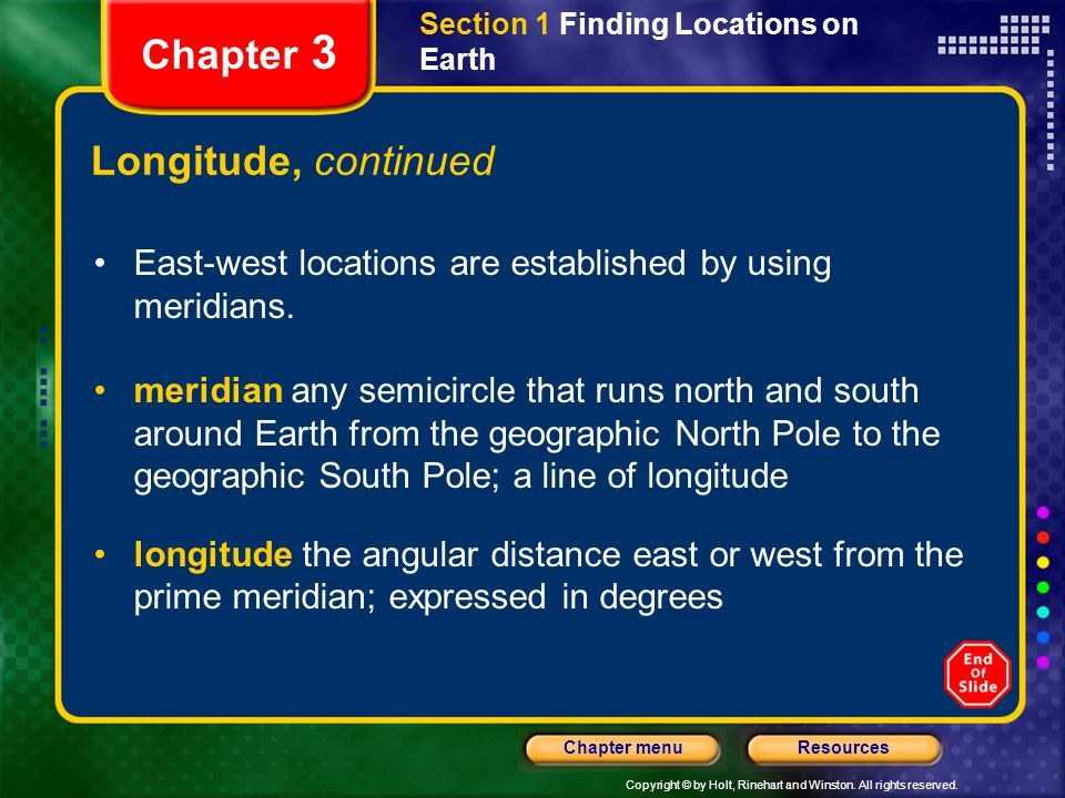 Chapter 3 Longitude, continued