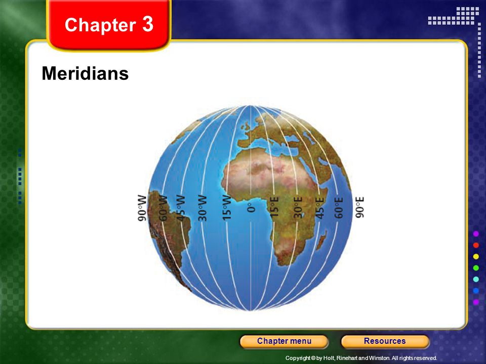 Chapter 3 Meridians