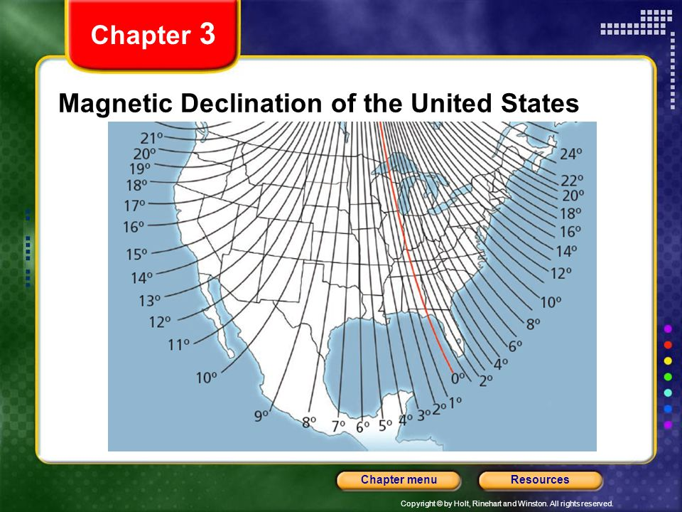 Magnetic Declination of the United States