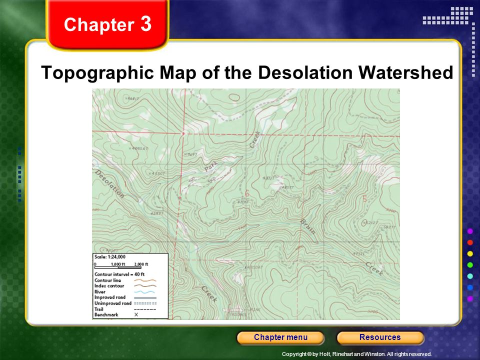 Topographic Map of the Desolation Watershed