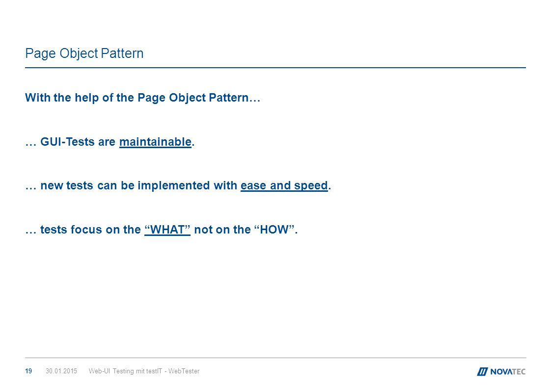 Page Object Pattern With the help of the Page Object Pattern…