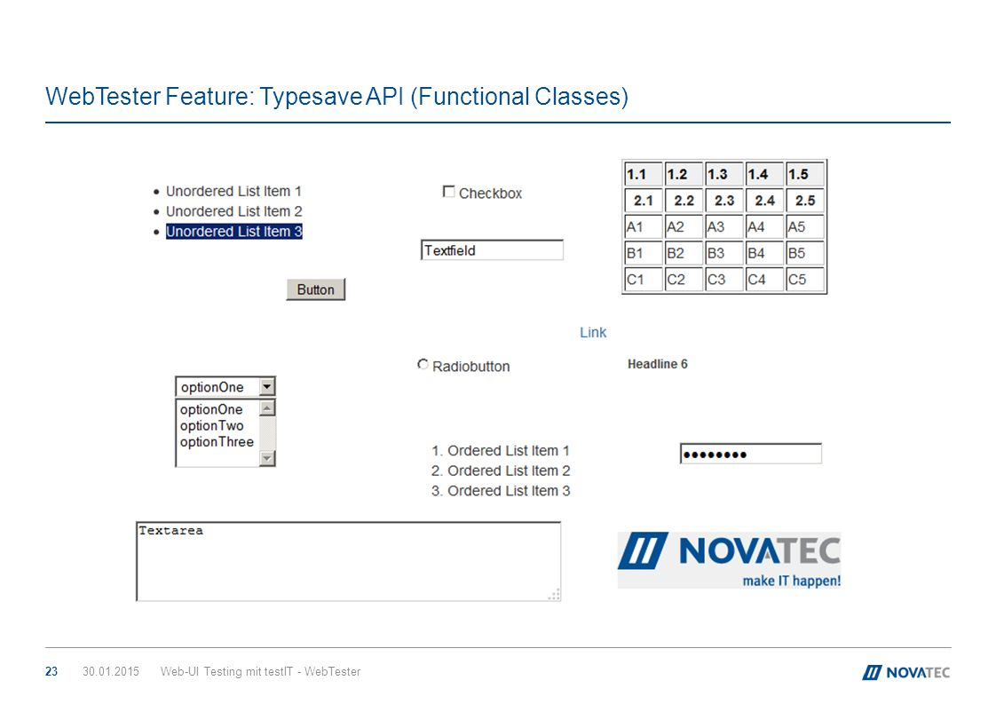 WebTester Feature: Typesave API (Functional Classes)