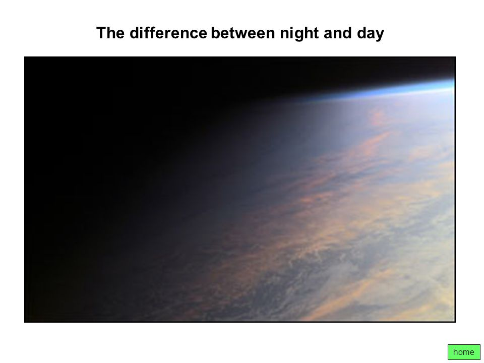 The difference between night and day