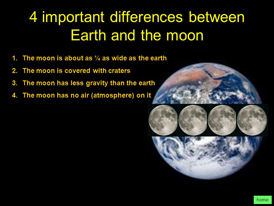 4 important differences between Earth and the moon