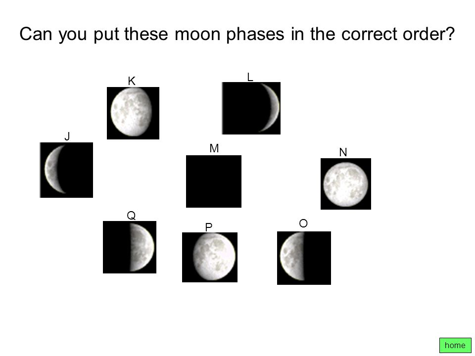 Can you put these moon phases in the correct order