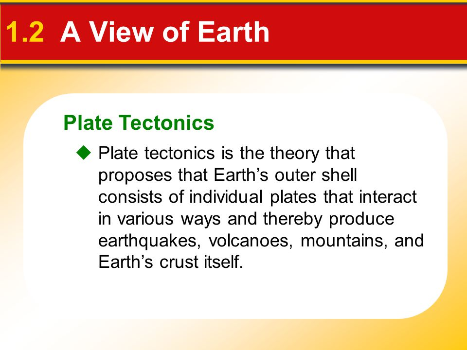1.2 A View of Earth Plate Tectonics