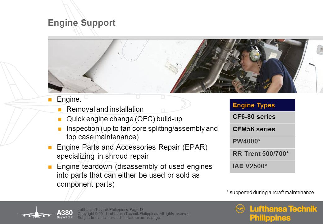 Engine Support Engine: