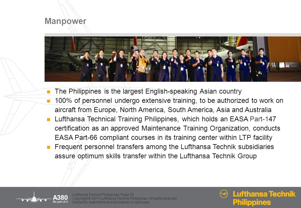 Manpower The Philippines is the largest English-speaking Asian country