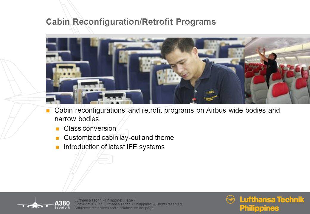 Cabin Reconfiguration/Retrofit Programs