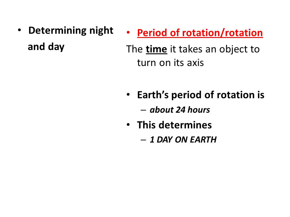 Period of rotation/rotation