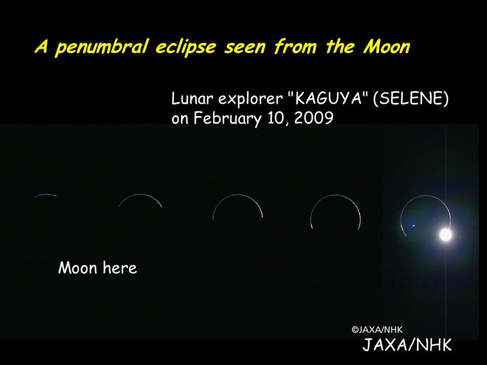 A penumbral eclipse seen from the Moon