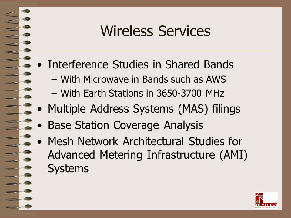 Wireless Services Interference Studies in Shared Bands