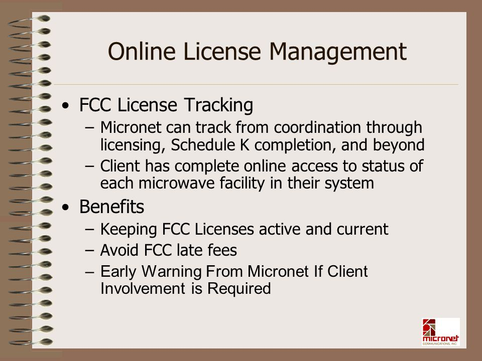 Online License Management