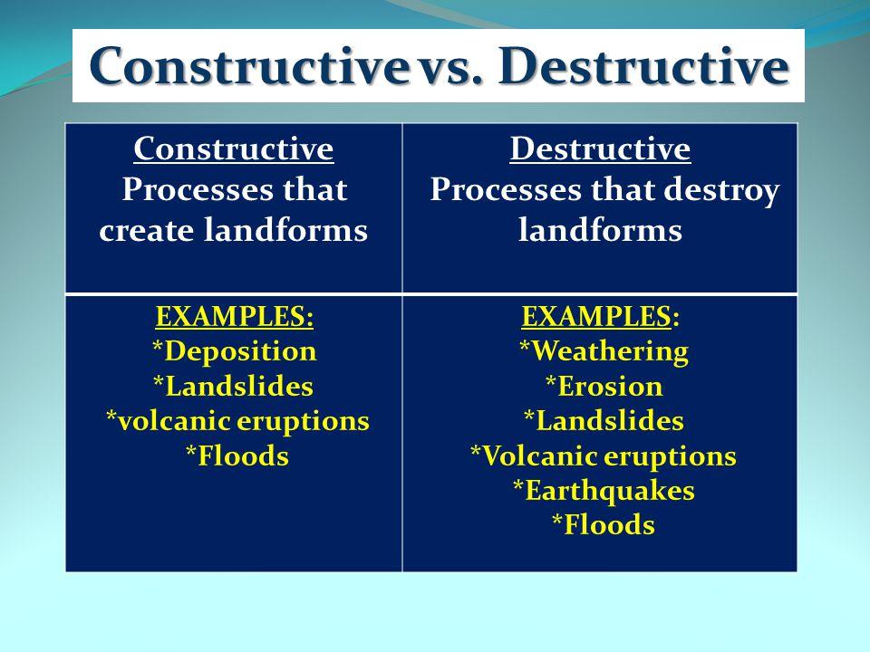 Constructive vs. Destructive